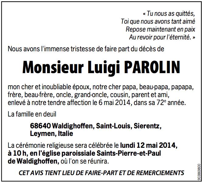 DC Louis Parolin