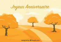Image joyeux anniversaire automne