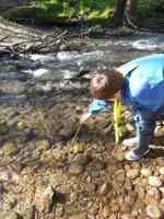 Mesure de la température de l'eau eu surface
