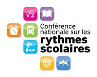 Logo pour la conférence nationale sur les rythmes scolaires.