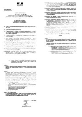 Arrêté préfectoral n°08313 du 23 mars 2011