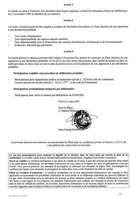 Certificat d'urbanisme n°11E0007 - Me BOSSERT