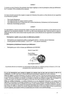 Certificat d'urbanisme n°11E0010 - Me Michel STEHLIN