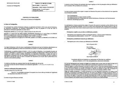Certificat d 39 urbanisme n 13e0002 me chassignet for Certificat d urbanisme positif