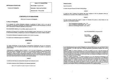 Certificat d 39 urbanisme d livr ma tre brom notaire for Certificat d urbanisme permis de construire