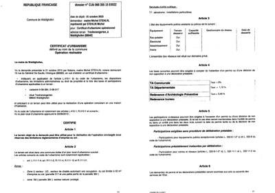 Certificat d 39 urbanisme op rationnel d livr ma tre for Certificat d urbanisme positif