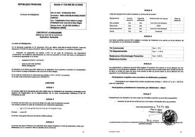Modele certificat urbanisme operationnel document online for Certificat d urbanisme positif