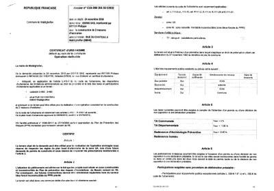 Demande de certificat d 39 urbanisme op rationnel pour un for Certificat d urbanisme positif