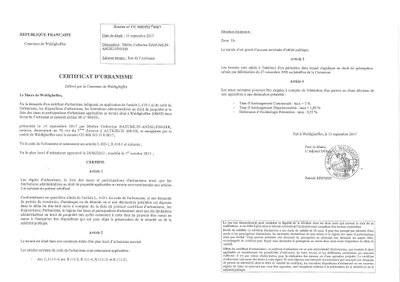 Certificat d 39 urbanisme d livr ma tre baeumlin for Certificat d urbanisme positif