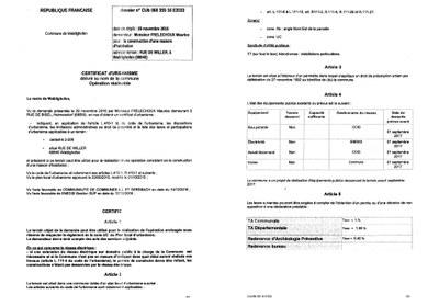 Certificat D Urbanisme Operationnel Delivre A M Frelechoux Maurice