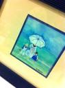 Mer, enfants et parasol