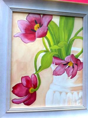 Tulipes ouvertes-aquarelle