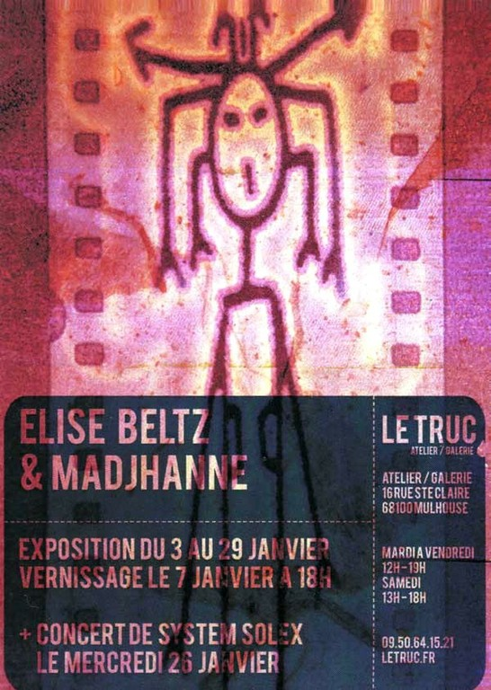 Affiche pour l'expo de Elise BELTZ à la Galerie Le Truc à Mulhouse