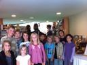 Les enfants après le premier atelier avec Gaëlle Fratelli