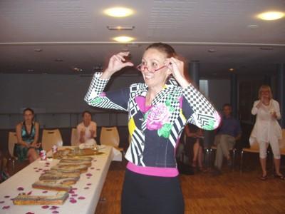 A l'apéritif, Marie-Chantal a ravi les invités