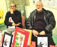 Ahmed et Michel, bénévoles de la Médiathèque