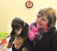Annick et le chien