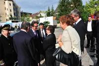 Arrivée du ministre au marché d'Altkirch le 1er sept 2011