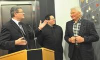 Messieurs Reitzer, Yves Camier, sous-préfet, et Poulidor