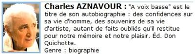Bandeau Charles AZNAVOUR