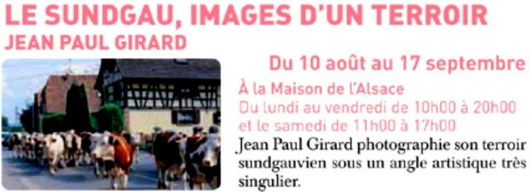 Jean Paul Girard à la Maison de l'Alsace - Zoom