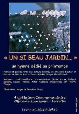 Affiche Un si beau jardin le 1er avril 2011