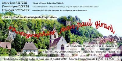 Vernissage Jean-Paul Girard à Ferrette