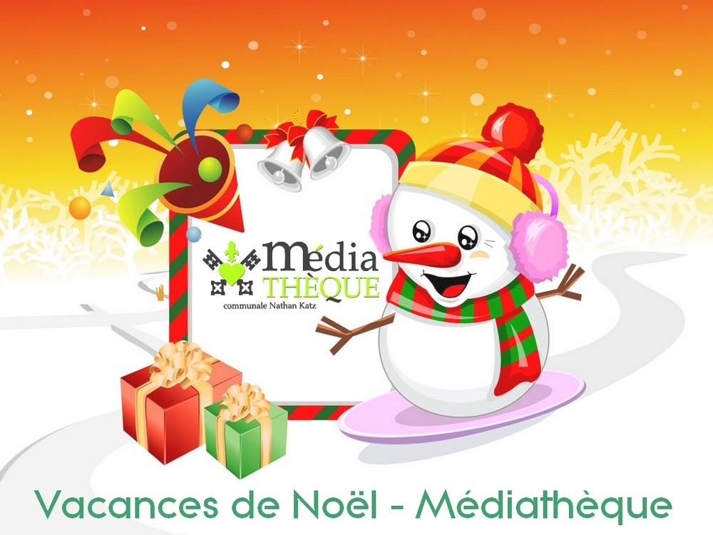 Logo Vacances de Noël Médiathèque