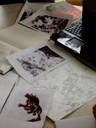 Réalisations de l'illustrateur pour la future BD