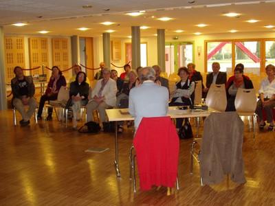 La salle au cours de la conférence de F. Vogt
