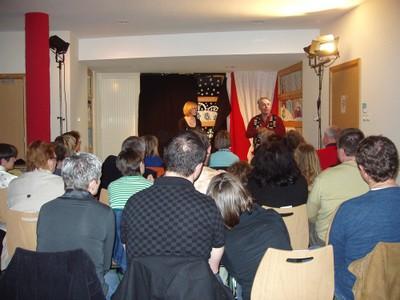 Les spectateurs de Patrick Chevalier à la médiathèque de Waldighoffen