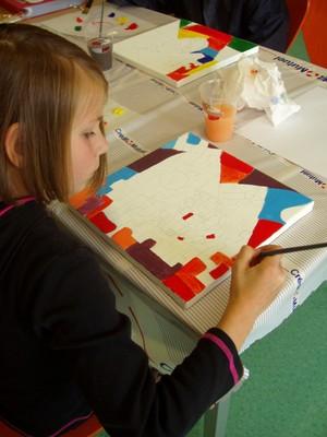 Photo montrant la technique de peinture avec Ch Demuth