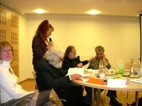 Christiane VALLIN, Simone MORGENTHALER et les 3 compères férus de Nathan Katz