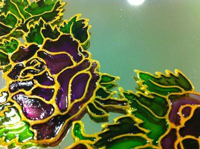 votre miroir magique avec caroline ferrara en peinture sur verre 1er atelier le 15 mars 2012. Black Bedroom Furniture Sets. Home Design Ideas