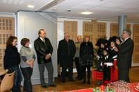 Discours de M. le Maire qui remercie les sponsors (la CMDP) de l'espace bilingue