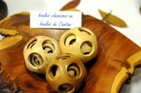 Les boules chinoises tournées en 1 seul morceau, des oeuvres d'art