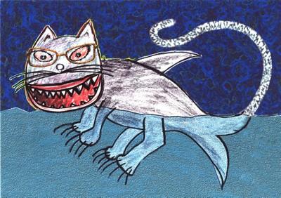 Le Chat-Requin - le dessin du spectacle