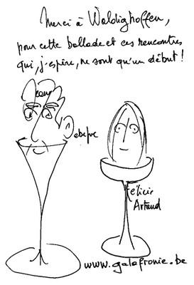 Signature des 2 acteurs par Jean Debefve pour Waldighoffen