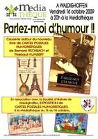 """Affiche """"Parlez-moi d'humour"""" le 16 octobre 2009"""