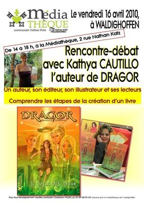Affiche Kathya CAUTILLO pour la médiathèque de Waldighoffen