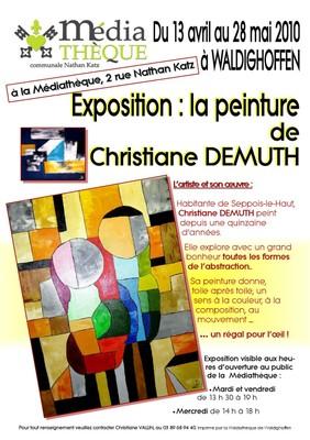 Affiche Expo Christiane DEMUTH