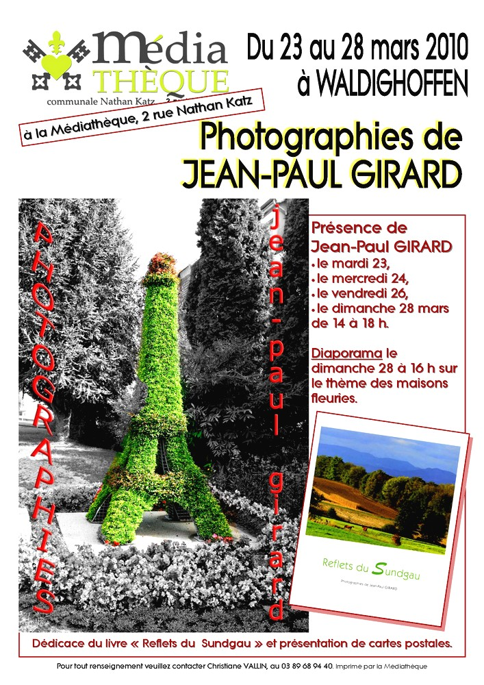 Affiche Expo JP Girard