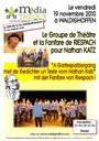Affiche de la soirée avec le Théâtre et la Fanfare de Riespach le 19 nov 2010