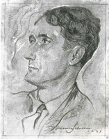 Gravure datant de 1927, représentant le poéte Nathan Katz jeune