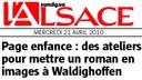 Kathya CAUTILLO à la médiathèque, dans l'Alsace le 21 04 10