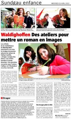 Atelier Kathya CAUTILLO dans l'Alsace le 21 04 10 article principal