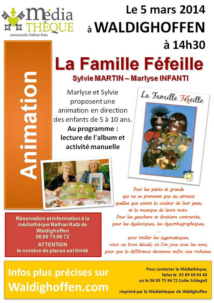 Affiche : Animation Syvlie MARTIN Marlyse INFANTI