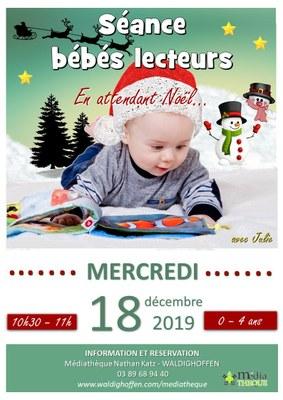 Affiche bébés lecteurs - En attendant Noël