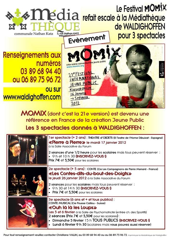 Affiche Momix 2012 Waldighoffen