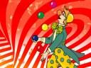 Clown qui jongle